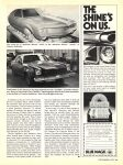 1978 CREATIVE INDUSTRIES Super Secret Car Builders By Leon Dixon CAR CLASSICS December 1978 8″x10.75″ page 65