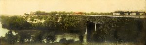 "#267 Fort Snelling and New Lower Post F. L. Wright Photo St. Paul, MINN 11""x3.5"" Hand-colored Real Photo Post Card"