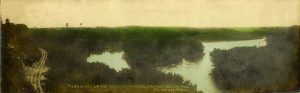 "#297 A View Up the Mississippi River, From Fort Snelling, MINN F. L. Wright Photo 11""x3.5"" Hand-colored Real Photo Post Card"