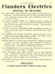 1912 2 15 FLANDERS Electric Car Price $1775 Special To Dealers Flanders Manufacturing Company Pontiac, MICH THE MOTOR WORLD February 15, 1912 8.5″x11.75″ page 851
