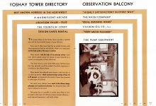 FOSHAY TOWER MINNEAPOLIS Best Known Address in the Northwest 1932 By Walter L. Kroneberger 5.5″x8″ & 5″x7.5″ pages 12 & 13