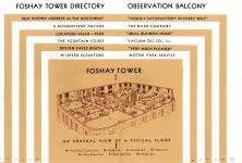 FOSHAY TOWER MINNEAPOLIS Best Known Address in the Northwest 1932 By Walter L. Kroneberger 4.5″x7″ & 4.5″x7″ pages 16 & 17