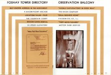 FOSHAY TOWER MINNEAPOLIS Best Known Address in the Northwest 1932 By Walter L. Kroneberger 4.5″x7″ & 5″x7.5″ pages 18 & 19
