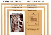 FOSHAY TOWER MINNEAPOLIS Best Known Address in the Northwest 1932 By Walter L. Kroneberger 5″x7.5″& 5.5″x8″ pages 20 & 21