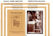 FOSHAY TOWER MINNEAPOLIS Best Known Address in the Northwest 1932 By Walter L. Kroneberger 5.5″x8″ & 6″x8.5″ pages 22 & 23