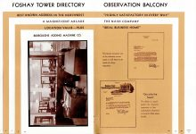 FOSHAY TOWER MINNEAPOLIS Best Known Address in the Northwest 1932 By Walter L. Kroneberger 6″x8.5″ & 6.5″x9″ pages 24 & 25