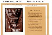 FOSHAY TOWER MINNEAPOLIS Best Known Address in the Northwest 1932 By Walter L. Kroneberger 7″x9.5″ & 6.5″x9″ pages 6 & 7