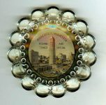 Foshay Tower Souvenir glass ashtray 4″ in diameter
