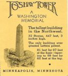 Foshay Tower Observation Deck Ticket stub 2.75″x3″