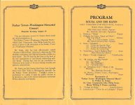 Foshay Tower Washington Memorial Concert Minneapolis Auditorium August 29, 1929 Lieutenant Commander John Phillip Sousa And His Famous Band Foshay concert 5.5″x8.5″ pages 1 & 2