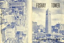 Foshay Tower Observation Deck flyer ca. 1940s 3.75″x5″ Front & Back covers