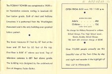 Foshay Tower Observation Deck flyer ca. 1940s 3.75″x5″ pages 1 & 2