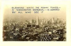 Gleaming white the Foshay Tower – A Washington Memorial – is admired by all who see it 2.75″x1.75″