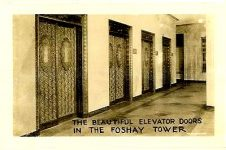 The beautiful elevator doors In the Foshay Tower 2.75″x1.75″