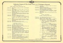 Foshay Tower Dedication Program A Washington Memorial August 30-31 and September 1, 1929 Minneapolis, Minnesota 14″x10″ pages 7 & 8