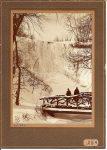 No 103. Minnehaha Falls in winter HAAS BROS PHOTOGRAPHERS 432 Globe Building St. Paul Minnesota Copyright 1898 4″x5.5″ 25¢ in 1898 = $6.79 in 2012