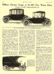 1914 10 8 MILBURN Electric Coupe $1,485 Roadster at $1,295 The Milburn Wagon Company Toledo, OHIO MOTOR AGE October 8, 1914 8.5″x11.75″ page 36
