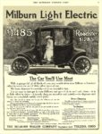 1915 5 29 MILBURN Light Electric $1485 Roadster $1285 The Car You'll Use Most The Milburn Wagon Company Toledo, OHIO THE SATURDAY EVENING POST May 29, 1915 10″ x13.25″ page 47