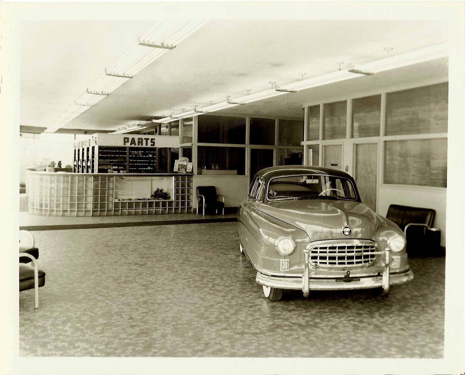 Ford Miller Company NASH Automobile Dealership Toledo, Ohio ca. 1949 10″x8″ Black & White photograph