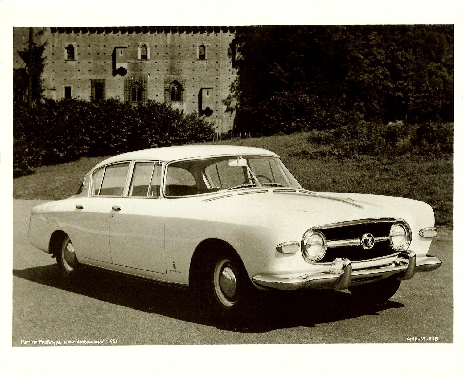 Farina prototype 1951 NASH Ambassador 10″x8″ Black & White photograph AMH-68-525