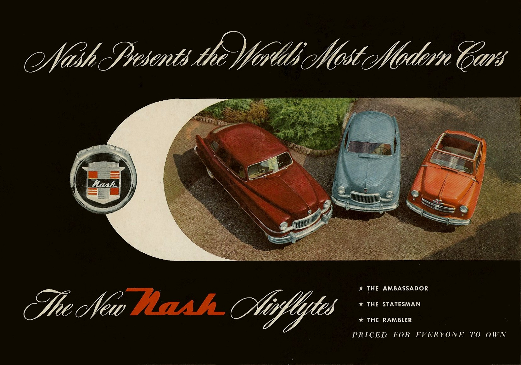 1951 NASH The New NASH Airflytes Sales Catalog NSP51-783-400M – October 1, 1951 Front cover