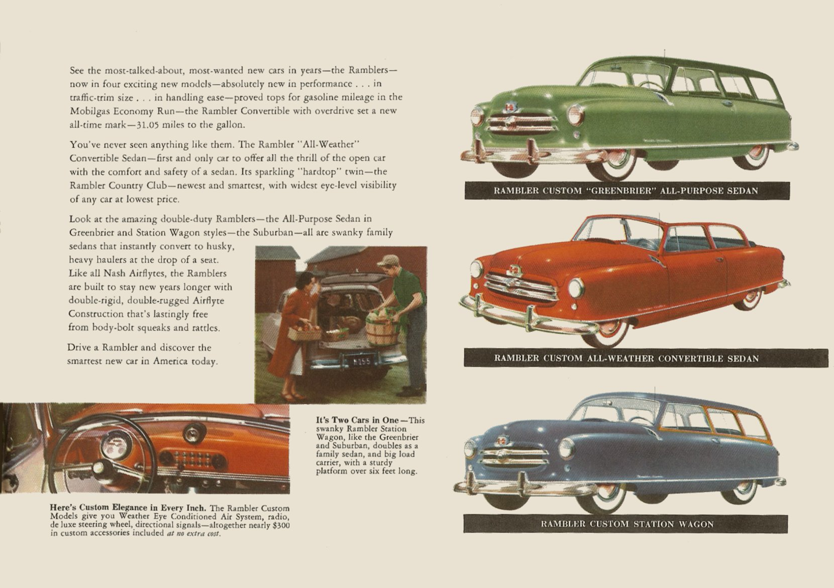 1951 NASH The New NASH Airflytes Sales Catalog NSP51-783-400M – October 1, 1951 Page 12