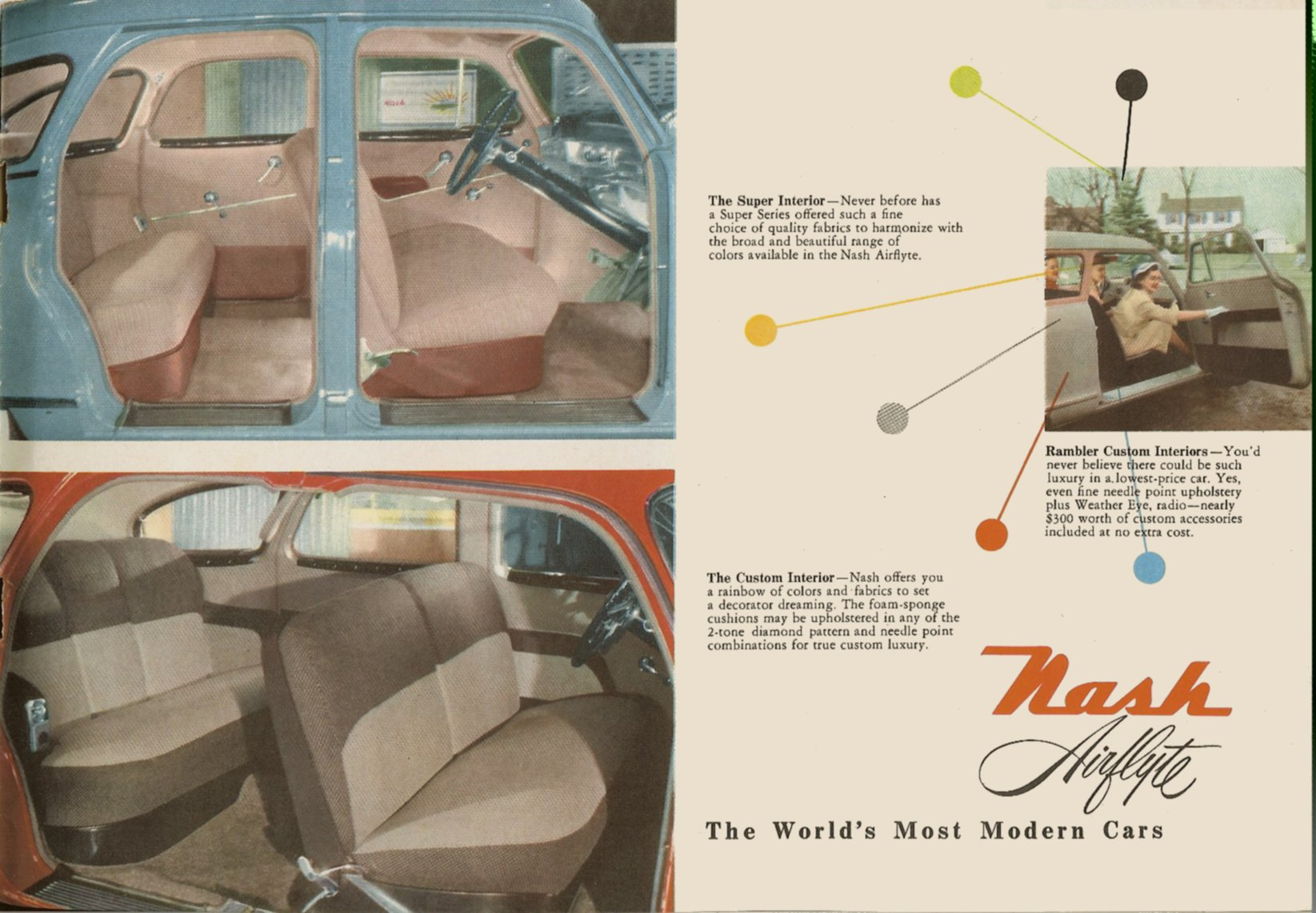 1951 NASH The New NASH Airflytes Sales Catalog NSP51-783-400M – October 1, 1951 Page 14