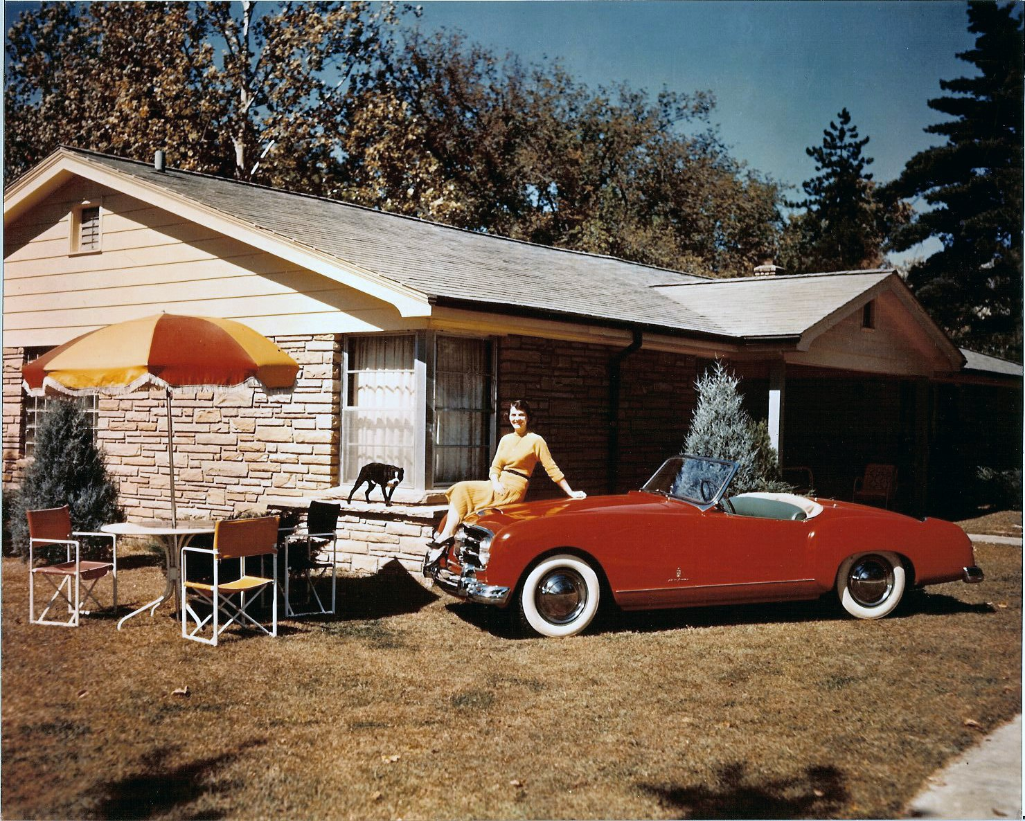 1952 NASH Healey 10″x8″ Color photograph