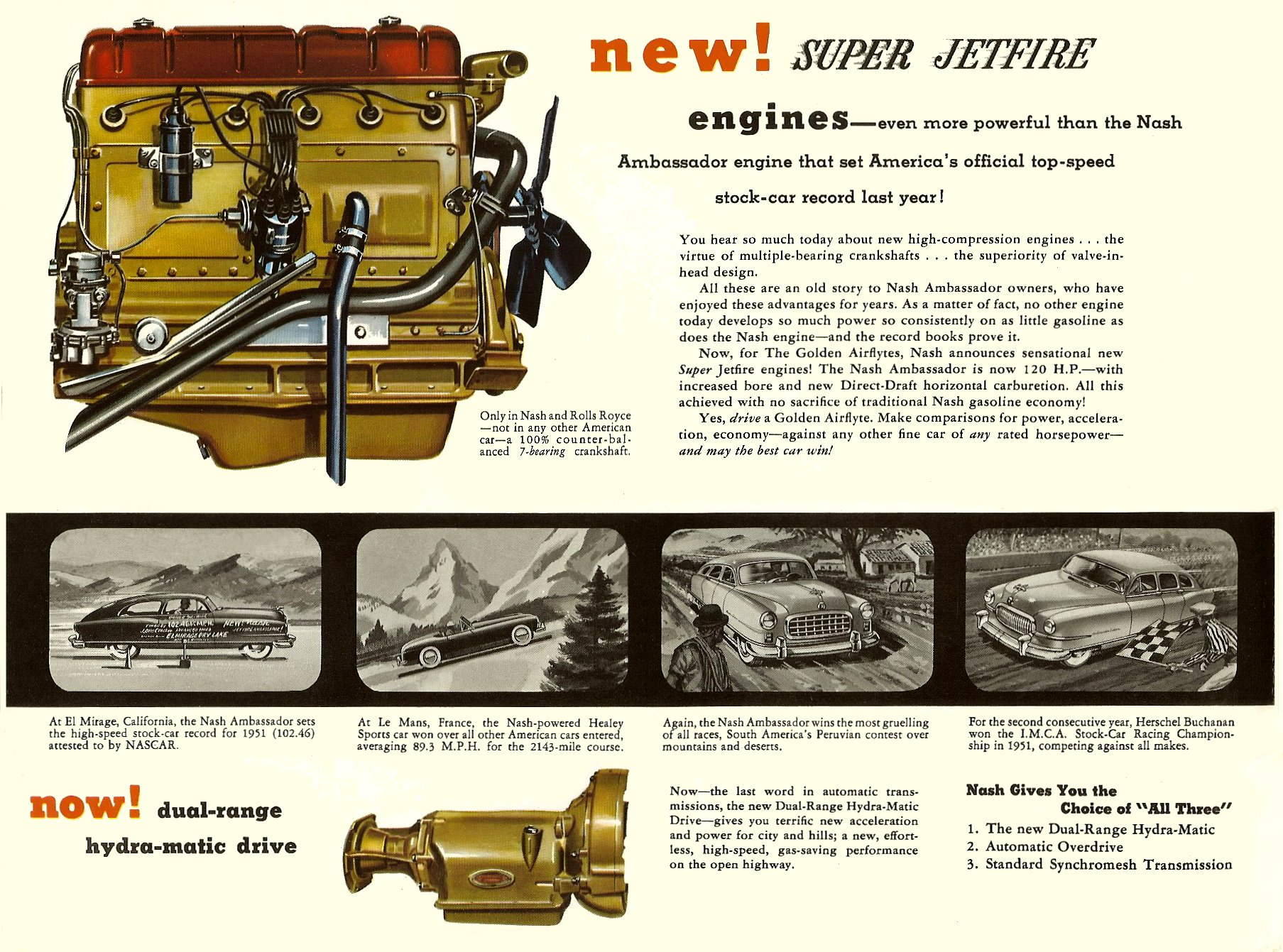 1952 The Golden Airflyte 1902-1952 Golden Anniversary By NASH Sales Catalog NSP-52-950-250M-3-52 Page 10, 12″x9″