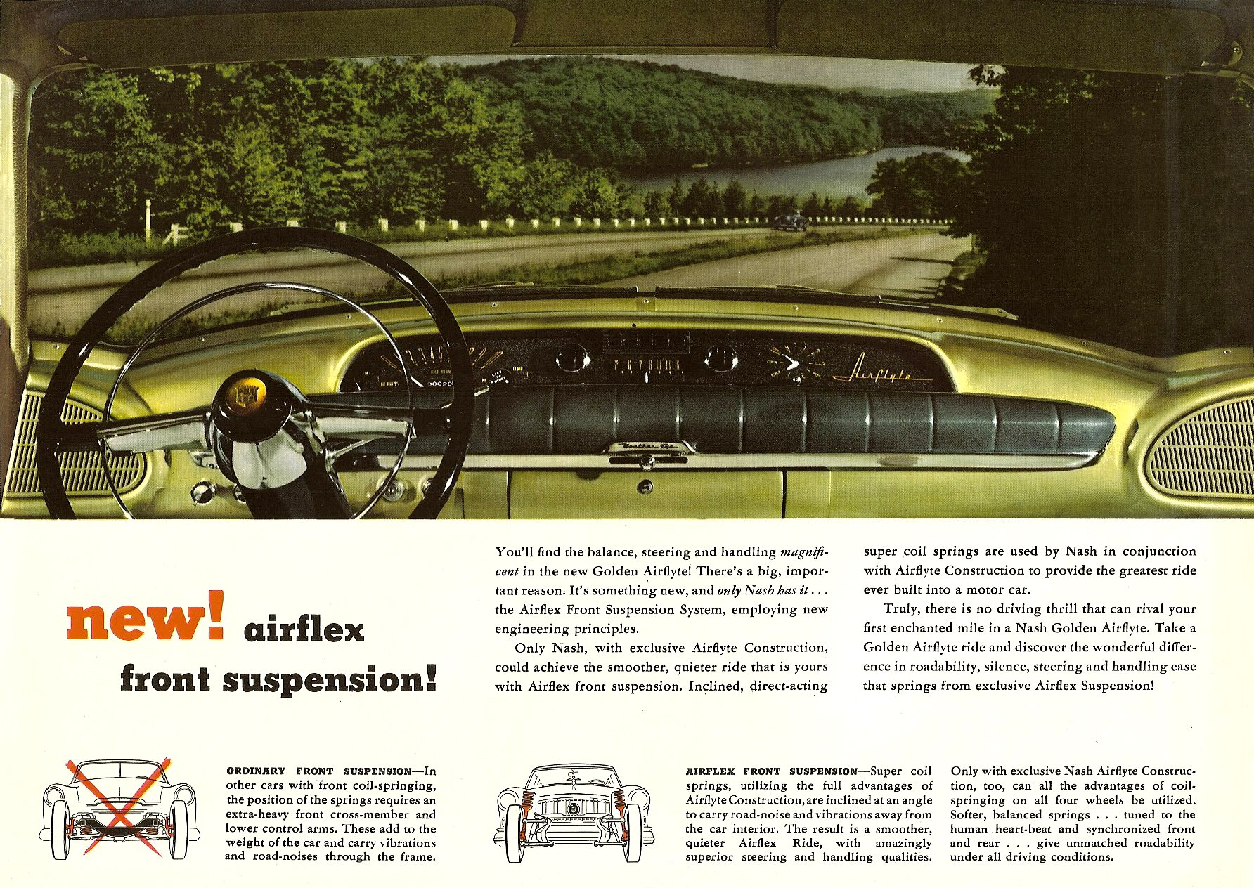 1952 The Golden Airflyte 1902-1952 Golden Anniversary By NASH Sales Catalog NSP-52-950-250M-3-52 Page 11, 12″x9″