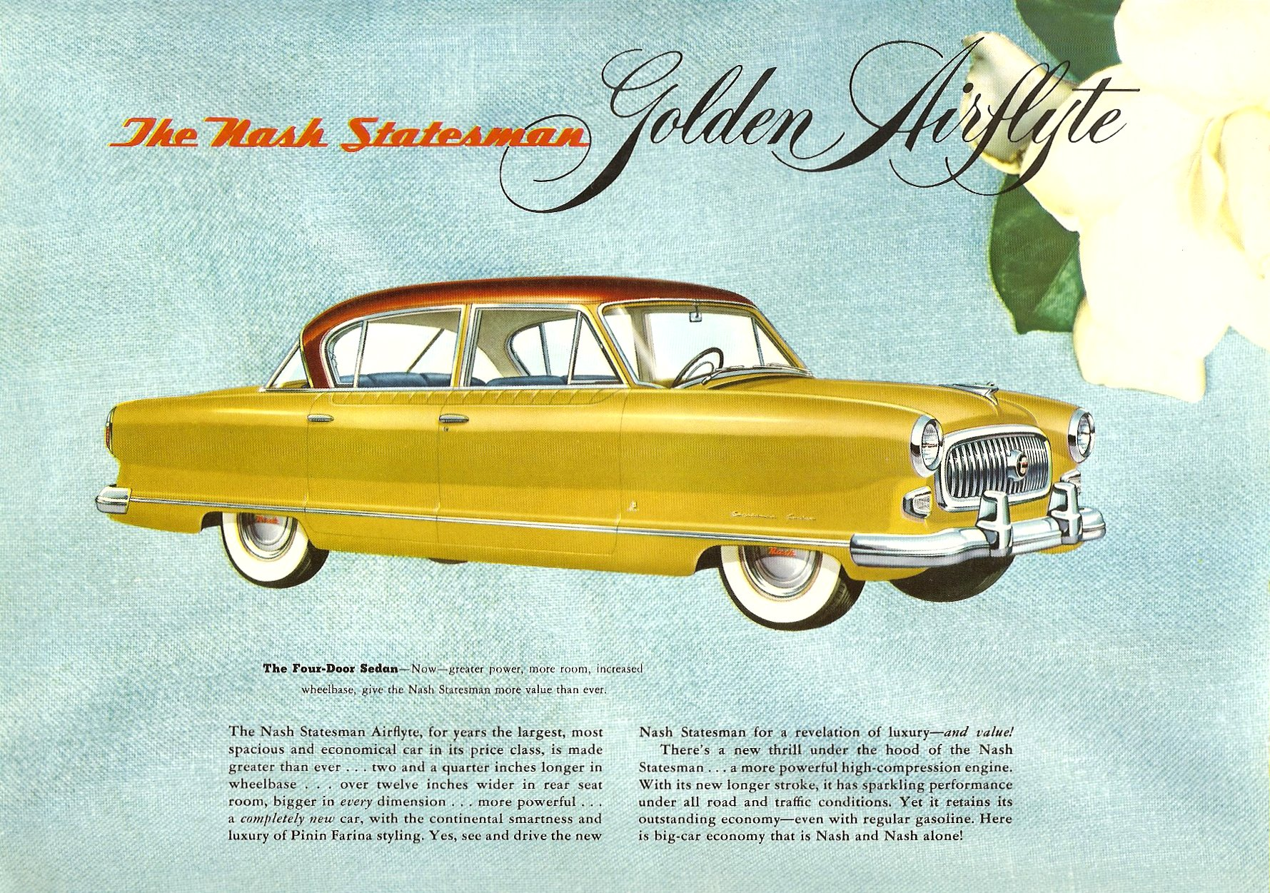 1952 The Golden Airflyte 1902-1952 Golden Anniversary By NASH Sales Catalog NSP-52-950-250M-3-52 Page 12, 12″x9″