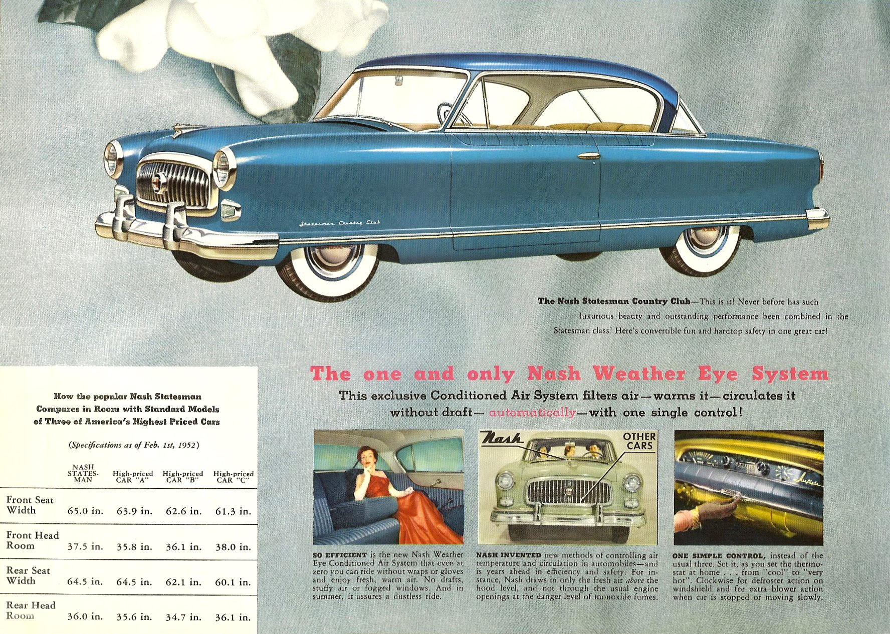 1952 The Golden Airflyte 1902-1952 Golden Anniversary By NASH Sales Catalog NSP-52-950-250M-3-52 Page 14, 12″x9″