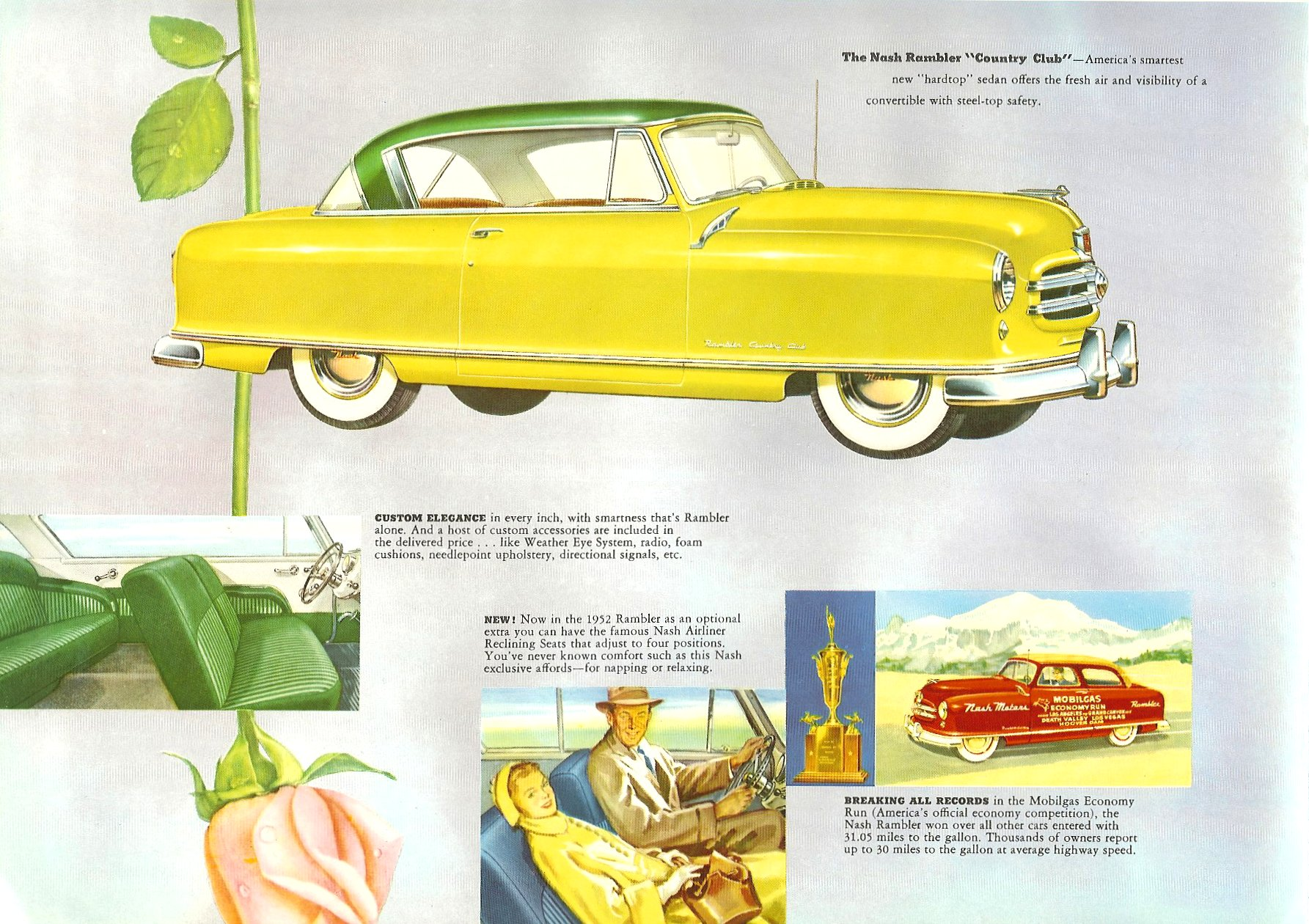 1952 The Golden Airflyte 1902-1952 Golden Anniversary By NASH Sales Catalog NSP-52-950-250M-3-52 Page 16, 12″x9″