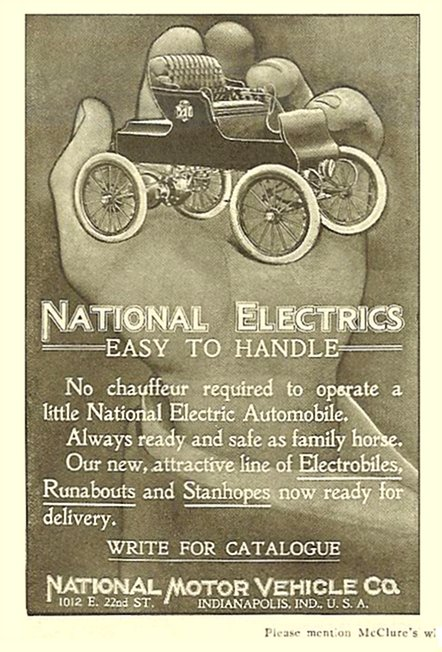 1903 NATIONAL ELECTRICS Easy to Handle McClure's 1903 2.75″x4″