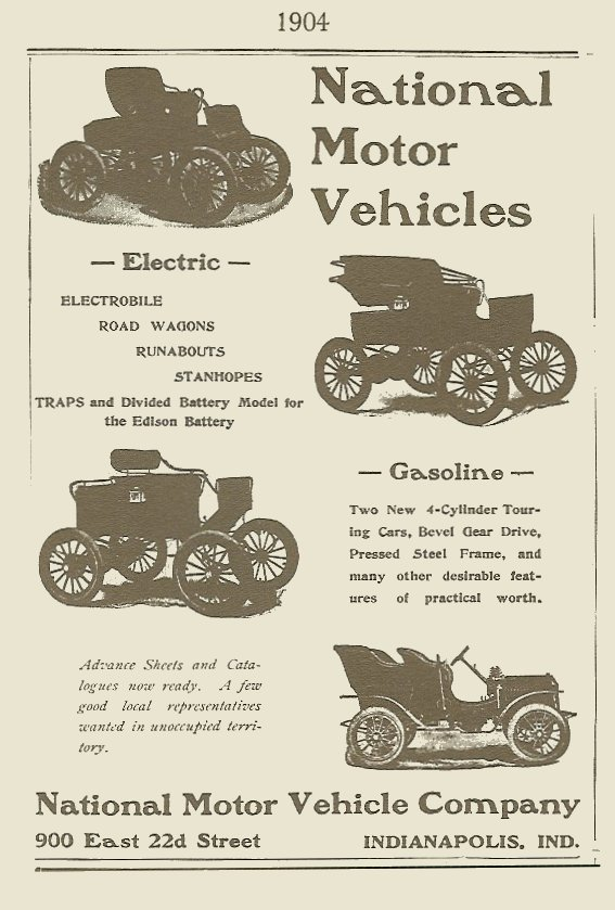1904 National magazine ad 1895-1930 The Wonderful World of AUTOMOBILES Edited By Joseph J. Schroeder, Jr., 1971 ISBN: 0-695-80223-2 page 52