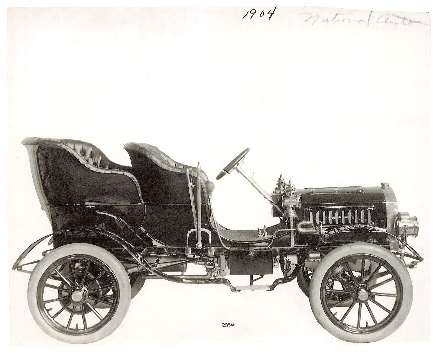 "1904 NATIONAL Gasoline Model ""B"" NATIONAL Motor Vehicle Company of Indianapolis, Indiana 1900-1924 Bass Photo Company Collection 2054 10″x8″ Black & White photograph Indiana Historical Society"