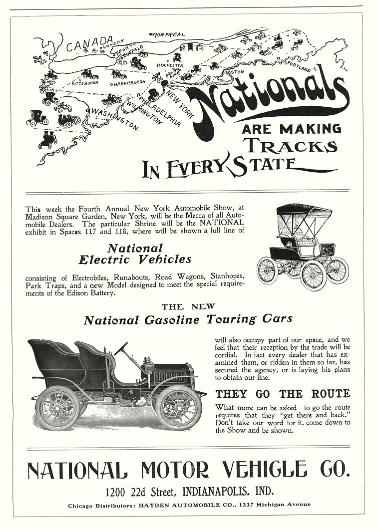 1904 Nationals ARE MAKING TRACKS IN EVERY STATE MOTOR AGE 8.5″x12″