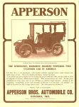 1904 5 18 APPERSON Apperson Bros. Automobile Co Kokomo, Indiana The Horseless Age magazine Vol. 13 No. 20 Back cover 9″x12″