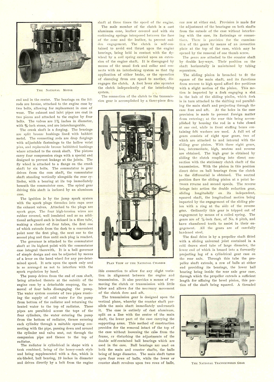 1905 NATIONAL Model C ONE OF THE NEW HOOSIER MODELS REPRINTED FROM MOTOR AGE, OF CHICAGO NATIONAL MOTOR VEHICLE COMPANY Indianapolis, IND 9.25″x13″ page 2 of 4
