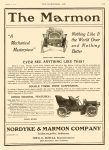1905 2 15 MARMON Nothing Like it the World Over and Nothing Better Nordyke & Marmon Company Indianapolis, Indiana THE HORSELESS AGE February 15, 1905 Vol. 15 No. 7 9″x12″ page XXIII