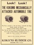 1905 2 8 KOKOMO Tire LOOK! LOOK! KOKOMO RUBBER CO Kokomo, IND, U.S.A. THE HORSELESS AGE Feb 8, 1905 7.75″x10.5″
