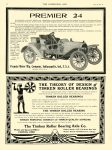 1907 5 15 PREMIER PREMIER 24 Premier Motor Mfg Company Indianapolis, Indiana THE HORSELESS AGE May 15, 1907 Vol. 19 No. 20 8.25″x11.5″ page 22