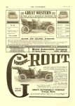 1909 3 4 GREAT WESTERN The Only Line in America of identically the same contruction throughout the various type Great Western Automobile Co. Peru, Indiana THE AUTOMOBILE Thursday March 4, 1909 Chicago Vol. 20 No. 9 9″x12″ page 158