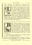1909 3 4 HAYNES The Fable of Bobby Think-not 1909 HAYNES AUTOMOBILE CO Kokomo, Indiana THE AUTOMOBILE Thursday March 4, 1909 Vol. 20 No. 9 9″x12″ page 166