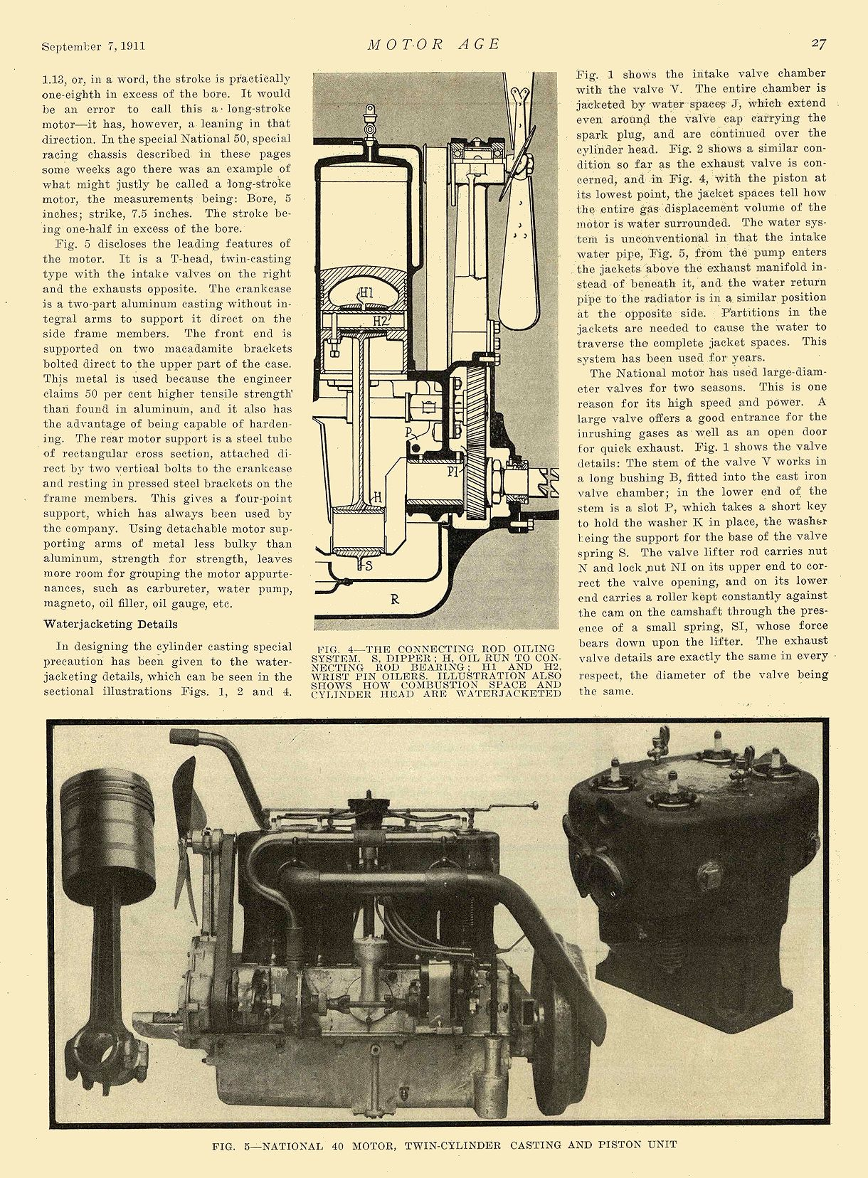 1912 9 7 NATIONAL Article The National 40—Series S National Motor Vehicle Co. Indianapolis, IND MOTOR AGE September 7, 1911 8.25″x12″ page 27