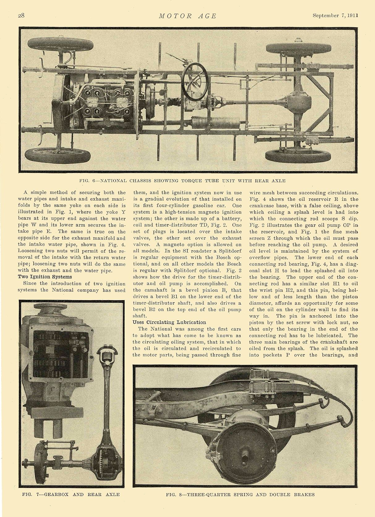 1912 9 7 NATIONAL Article The National 40—Series S National Motor Vehicle Co. Indianapolis, IND MOTOR AGE September 7, 1911 8.25″x12″ page 28