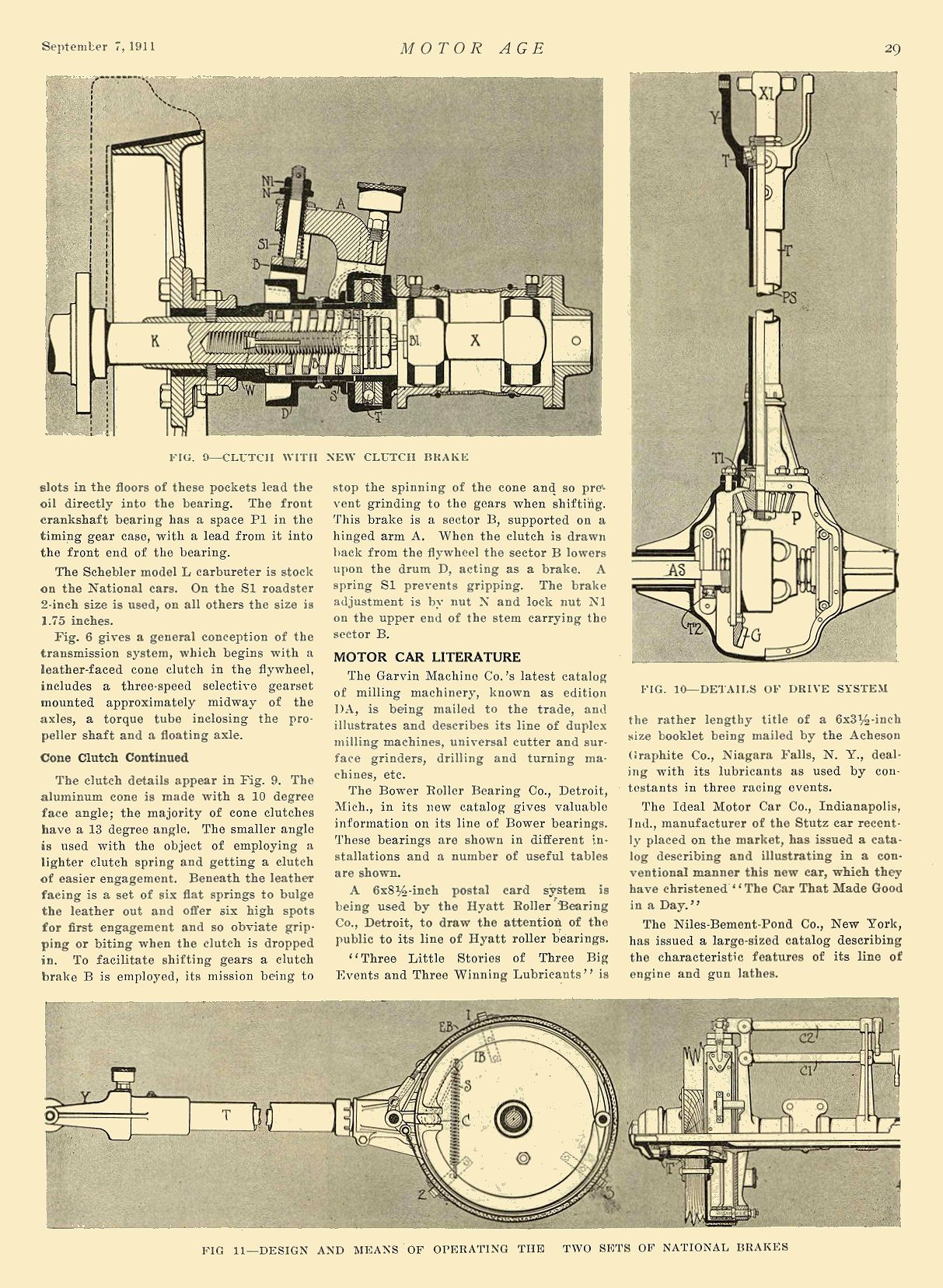 1912 9 7 NATIONAL Article The National 40—Series S National Motor Vehicle Co. Indianapolis, IND MOTOR AGE September 7, 1911 8.25″x12″ page 29