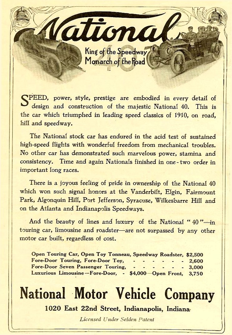 191 3 4 NATIONAL National King of the Speedway Monarch of the Road Harper's Weekly Advertiser magazine March 4, 1911 5″x7″ page 20