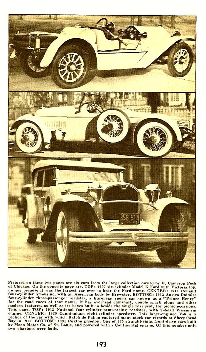 1913 NATIONAL 4-cyl Semi-Racing Roadster with T-head Wisconsin engine Floyd Clymer's Historical Motor SCRAPBOOK Number 6 1950 5.5″x8.5″ page 193