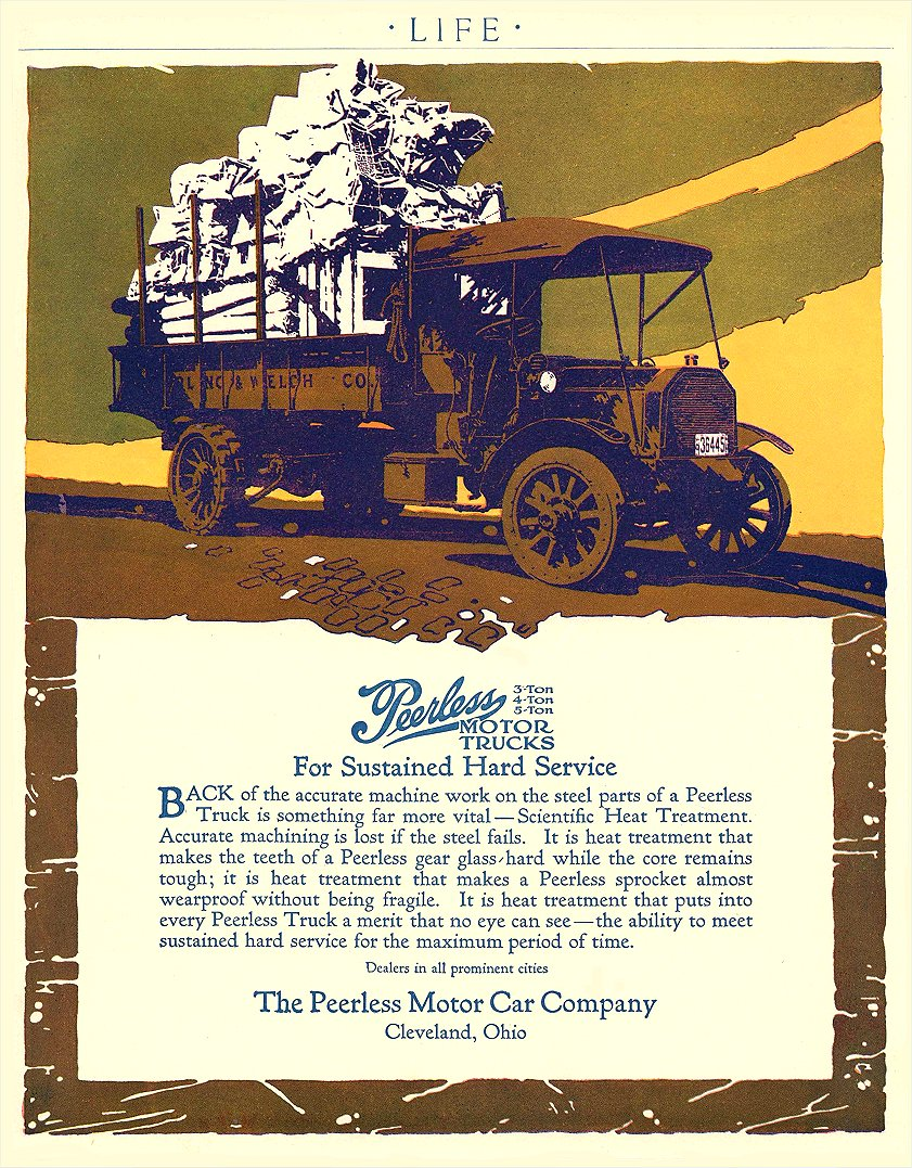 1913 PEERLESS Motor Truck The Peerless Motor Car Company Cleveland, OHIO LIFE 1913 8.25″x10.75″